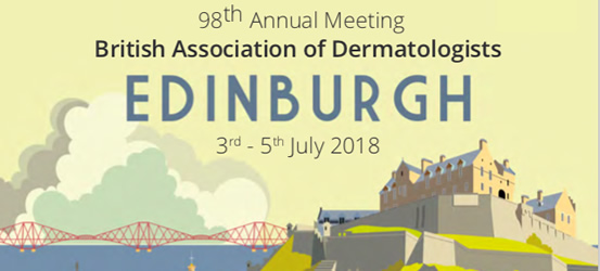98th Annual Meeting of the British Association of Dermatologists: 3 - 5 July 2018